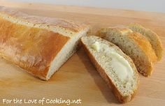 crusty italian bread, love that this recipe uses the bread machine for the dough part ;)