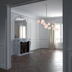 Not bad at all - Paris of course  Ingen dålig grund att utgå ifrån... #keepitsimple #interior #design #designinterior #livingroom #vardagsrum #decoração #like #sekelskifteslägenhet #sekelskifteshem #highceilings #highendinteriors #french #france #parisian #paris #mirror #spegel #lamp #lampa #herringbonefloor
