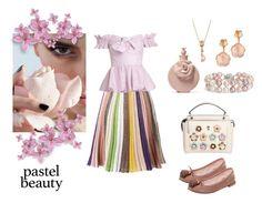 """Pastel beauty"" by princessezouga on Polyvore featuring mode, Missoni, Caroline Constas, Fendi, Pasquale Bruni, LE VIAN, Blue Nile, Valentino et Repetto"