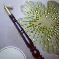 Bead Embroidery Patterns, Tambour Embroidery, Hand Work Embroidery, Couture Embroidery, Learn Embroidery, Embroidery Stitches, Embroidery Designs, Cloth Flowers, Fabric Flowers