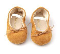 Mustard velvet ballerinas - Sonatina