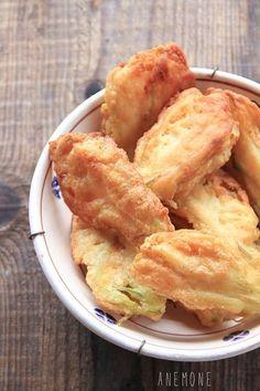 Fiori di zucca fritti con pastella alla birra e farina di farro
