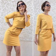 """Ingrid HELWIG on Instagram  """"Je me suis fait plaisir en cousant ce modèle   louisantoinetteparis 😍 dans un Jacquard  boucharaparis 🤔 note pour plus  tard ... 24092ee25c51"""