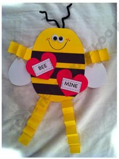 BEE mine Valentine -- would not use the arms and legs.