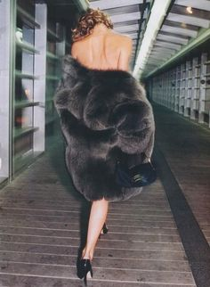 furs..yes:) I HAVE answered my door with nothing on but my full length fox coat....men LOVE that......Yes:)