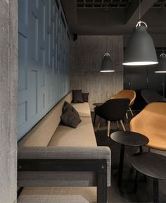 Probably a bit too modern but the couch is a cool shape/design.  Stockholm Restaurant Decor stockholm restaurant decor9