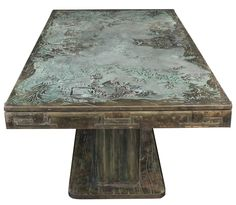 Rare Extension Dining Table by Philip & Kelvin Laverne | From a unique collection of antique and modern dining room tables at https://www.1stdibs.com/furniture/tables/dining-room-tables/