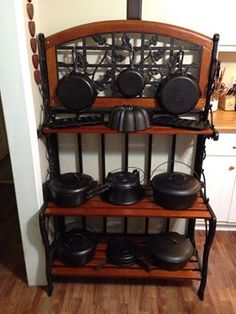 I would love a baker's rack filled with cast iron cookware!