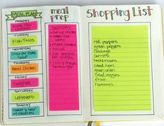 I use my Bullet Journal for Meal Planning This meal planning template in my Bullet Journal makes planning so easy!This meal planning template in my Bullet Journal makes planning so easy! The Plan, How To Plan, Bullet Journal Agenda, Bullet Journal Inspo, Bullet Journals, Bullet Journal Grocery List, Bullet Journal Health, To Do Planner, Passion Planner