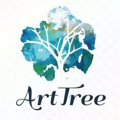 4 Ways to Use Nature Logo Design for Your Brand Logo Inspiration, Typography Design, Branding Design, Negative Space Logos, Watercolor Logo, Watercolor Design, Tree Logos, Logo Color, Texture Design