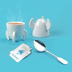 Blast Off! Espresso Cup Set by Fred & Friends