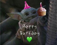 Yoda Happy Birthday, Star Wars Birthday, Happy Birthday Wishes, Birthday Greetings, Yoda Funny, Yoda Meme, Cute Memes, Cute Quotes, Star Wars Baby