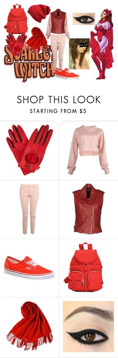 """Scarlet Witch"" by saleonsea ❤ liked on Polyvore featuring Gizelle Renee, Boohoo, Diesel, Vans, Kipling, Marvel Comics, Punk, marvel, comics and scarletwitch"