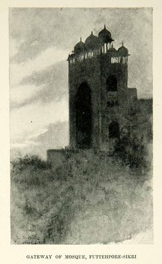 1896 Print Mosque Gateway Futtehpore-Sikri India Edwin Lord Weeks XGAF9