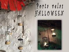 Tutorial sobre cómo hacer un portavelas para Halloween y crear un ambiente tenebroso en cualquier rincón de la casa.