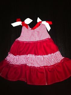 Rustic tier dress. Size 18 months. Shabby Chic for chubby cheeks!