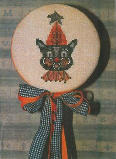 Dames of the Needle - Black Cat & Star Pick [DOTN131508] - $6.50 : Laurels Stitchery, The best little stitchery shop on the internet!
