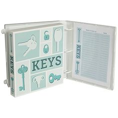 Key Organizer Binder Kit on #amazon http://amzn.to/1i74ylw   A key organizer that is functional, portable and durable Ideal for auto shops, apartment buildings, offices and dormitories  Store up to 100 of your keys and slide them into the specially slit poly pages  Specially slit poly pages for easy key storage and removal
