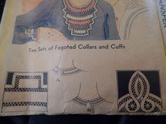 Vintage 1920's McCalls 88 Ladies Collars Cuffs Pattern w Transfers | eBay