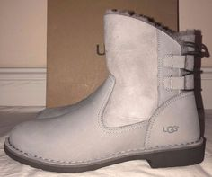 5f941cd3b5 Ugg Australia Womens Gray Naiyah Suede Boots Size 11  UGGAustralia   SnowWinterBoots  Casual Suede