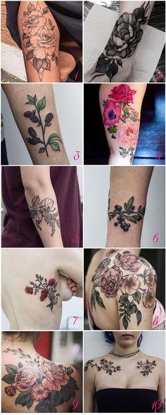 Lindas Tatuagens Florais e Botânicas