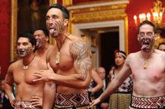 traditional Maori hongi