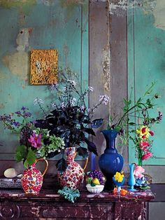 See Inside a Carefully Excavated Antwerp House - Interior ideas – colorful, colorful, eye-catching – wonderful interior ideas for the living roo - Maximalist Interior, Stained Glass Door, Antwerp, Feng Shui, Bunt, Interior Inspiration, Color Inspiration, Writing Inspiration, Flower Arrangements