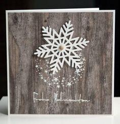 Nov. 14 - blütenstempel: Karte mit Schneeflocke