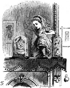#5 - John Tenniel - Through the Looking Glass - Alice going through mirror