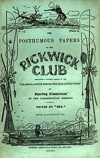 """The Posthumous Papers of the Pickwick Club (also known as The Pickwick Papers) is the first novel by Charles Dickens. After the publication, the widow of the illustrator Robert Seymour claimed that the idea for the novel was originally her husband's; however, in his preface to the 1867 edition, Dickens strenuously denied any specific input, writing that """"Mr Seymour never originated or suggested an incident, a phrase, or a word, to be found in the book."""""""