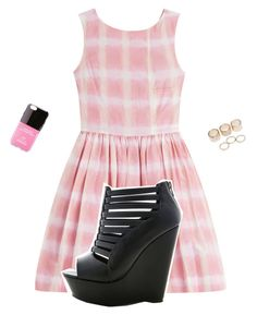 """Live Pink"" by drakona ❤ liked on Polyvore featuring Marc by Marc Jacobs, Wet Seal and Iphoria"