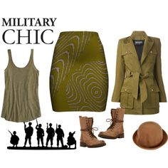 """""""Military Chic"""" by flisty on Polyvore"""