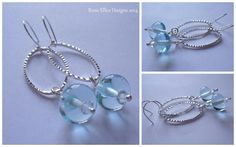 Lampwork Glass Beads earrings by Rosie Ellice Designs!