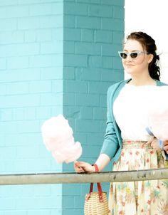 Saoirse filming Brooklyn