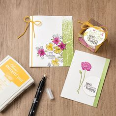 Flirty Flowers Wood-Mount Stamp Set by Stampin' Up!