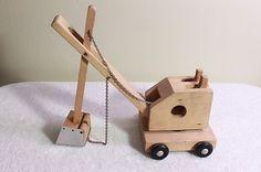 Vintage Wood Toy Steam Shovel Creative Playthings Finland Mike Mulligan Maryann   eBay