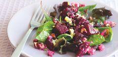 Salad with beetroot, toasted hazelnuts & Cashel Blue dressing | Rachel Allen