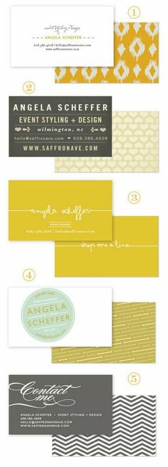 Design - Business Cards, Stationery - love these colours