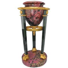 A Russian gilt bronze mounted rhodentite and nephrite tazza, circa 1850.   From a unique collection of antique and modern vases at http://www.1stdibs.com/furniture/dining-entertaining/vases/