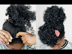 BRAIDLESS CROCHET Curly Afro Puff on Short Natural 4C Hair | Easy & Affordable | Ft Motown Tress - YouTube