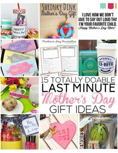 15 Totally Doable Last Minute Mother's Day Gift Ideas / Thirty Handmade Days