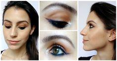 Tutorial Make Neutra com Delineado Colorido   New in Makeup