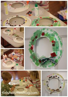 Christmas Craft for Kids: Make a Wreath - Kids Activities Blog - My kids have done this in school before.  Very cute Christmas decoration & keepsakes - MilitaryAvenue.com