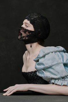 See all the looks from the show Mouth Mask Fashion, Fashion Mask, Couture Fashion, Trend Board, Vampire Fashion, Portrait Photography, Fashion Photography, Ulyana Sergeenko, Mode Vintage