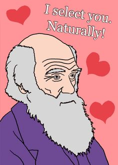 Darwin v-day card haha - perfect since im studying for my evolution test :)