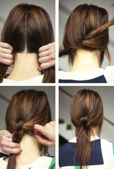夏のヘアスタイル ヘアアレンジ 2016年春夏 まとめ髪 ナチュラル 結ぶ howto
