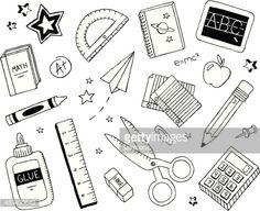 Arte vetorial : School Doodles