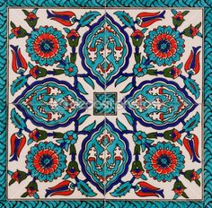 Turkish tiles LOVE these colors!    @jujubebags