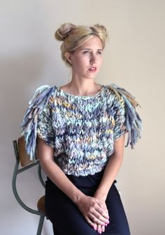 welland sweater w/ FRINGE by good night day | Project | Knitting / Shirts, Tanks, & Tops | Kollabora