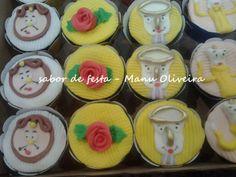 cupcakes bela e a fera ... www.sabordefesta2010.blogspot.com
